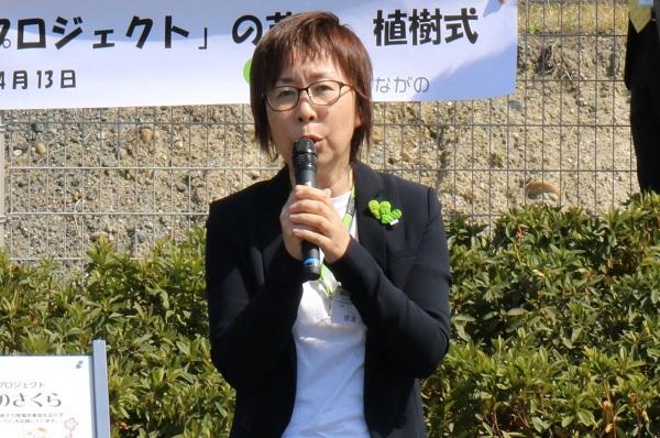 コープながの德嵩淳子組合員理事の写真
